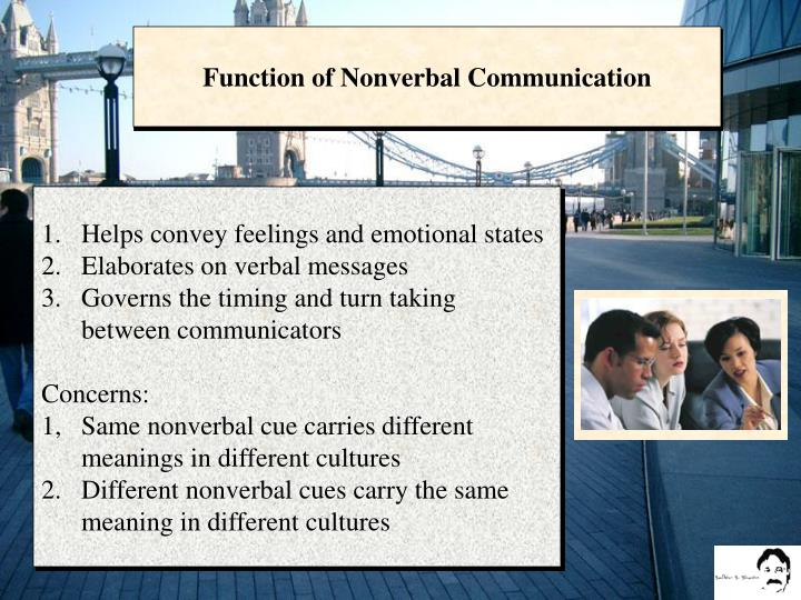 Function of Nonverbal Communication