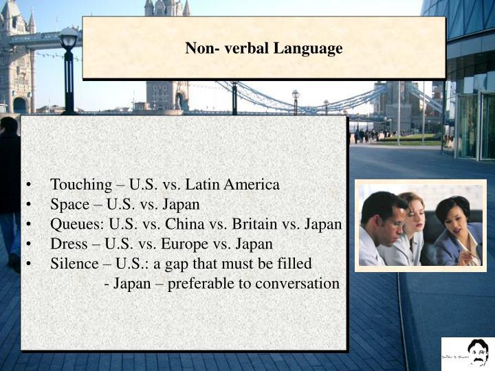 Non- verbal Language