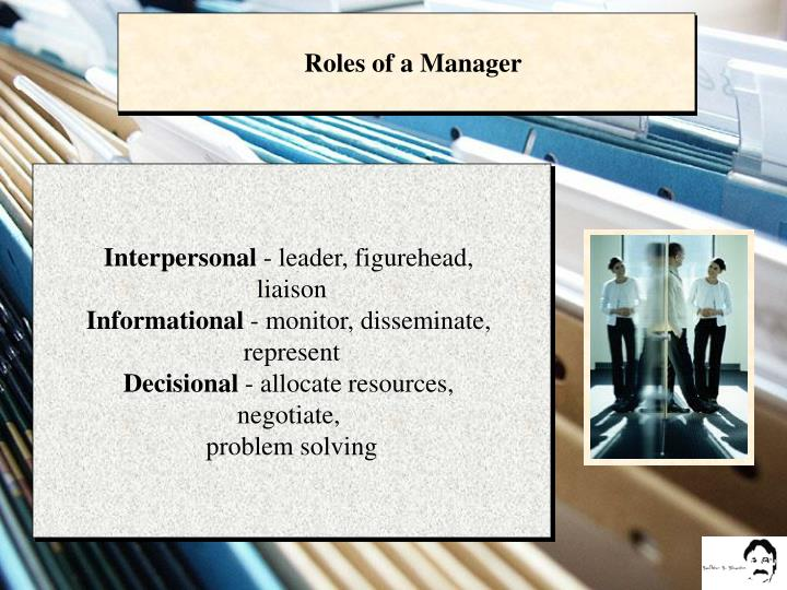 Roles of a Manager