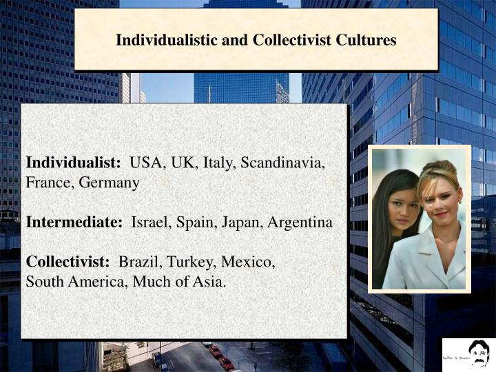 Individualistic and Collectivist Cultures