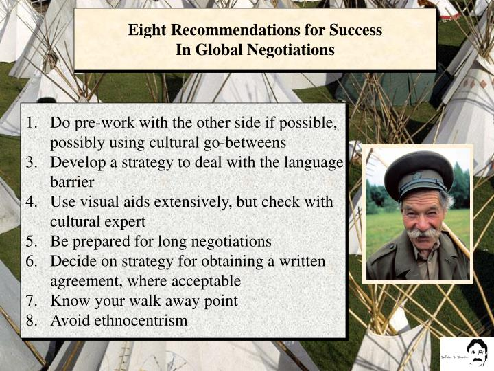 Eight Recommendations for Success