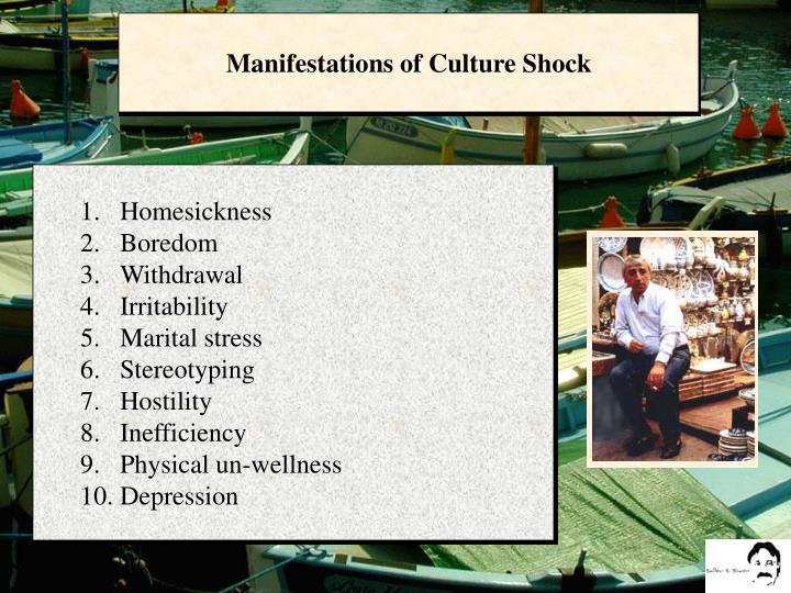 Manifestations of Culture Shock