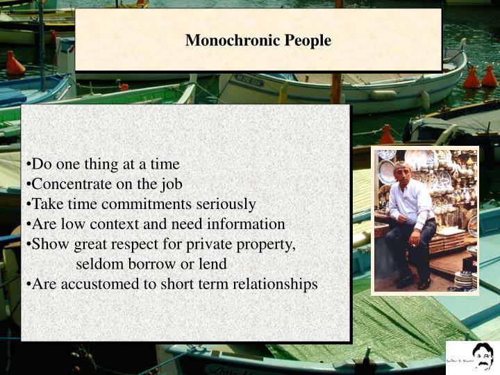 Monochronic People