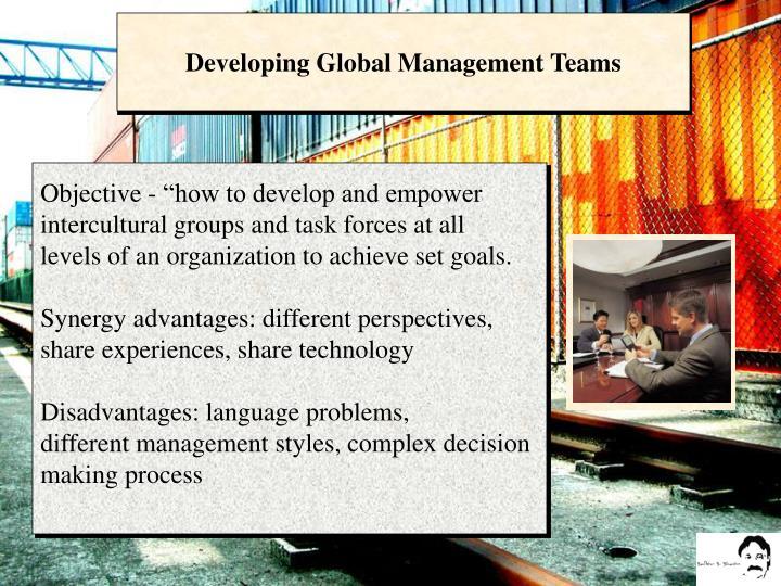 Developing Global Management Teams