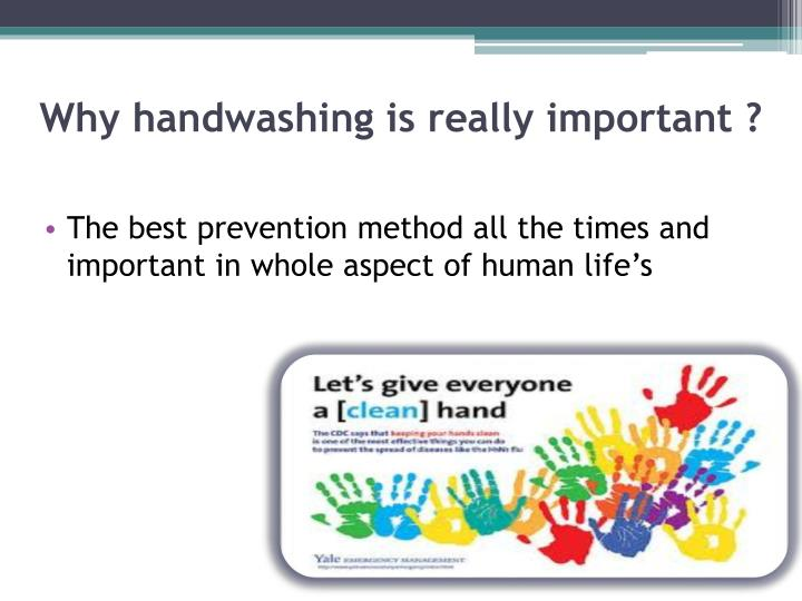 Why handwashing is really important