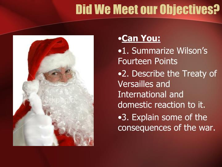 Did We Meet our Objectives?