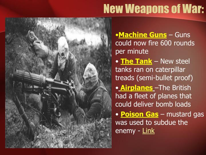 New Weapons of War: