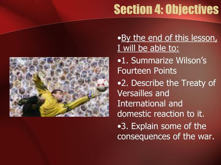 Section 4: Objectives