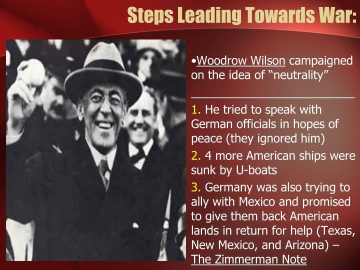 Steps Leading Towards War: