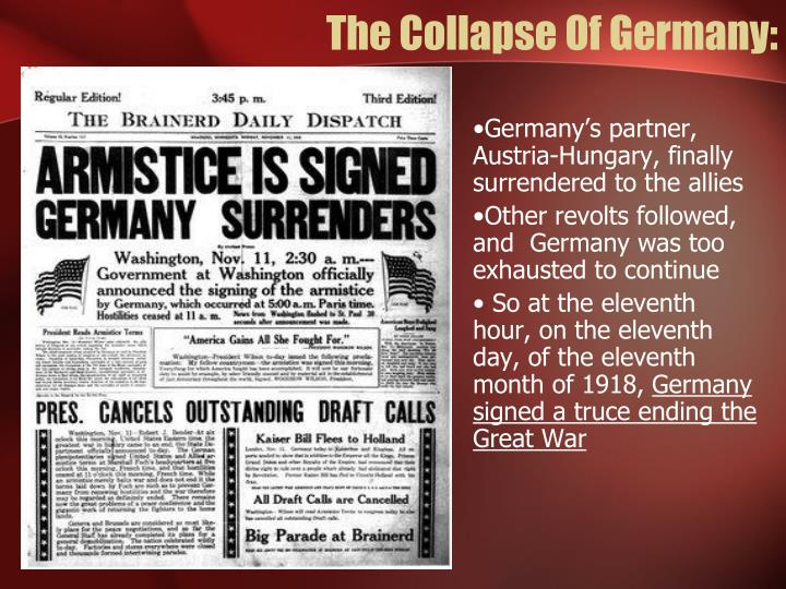 The Collapse Of Germany:
