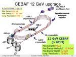 cebaf 12 gev upgrade