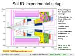 solid experimental setup