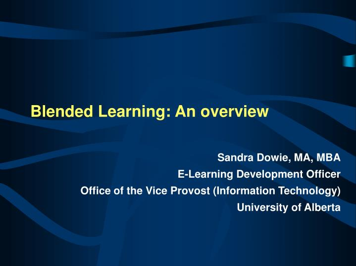 blended learning an overview n.