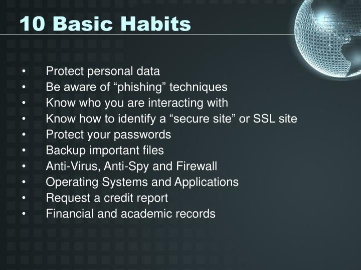 10 basic habits