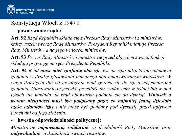 Konstytucja Włoch z 1947 r.