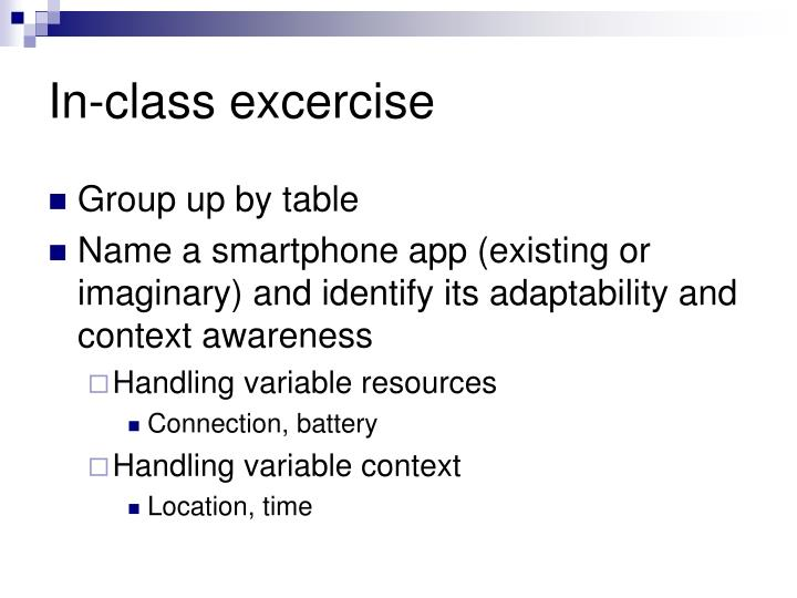 In-class excercise