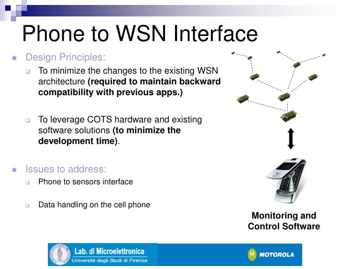 Phone to WSN Interface