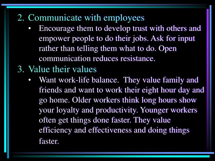 2. Communicate with employees