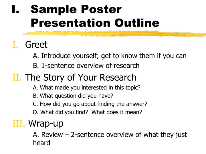 Sample Poster Presentation Outline