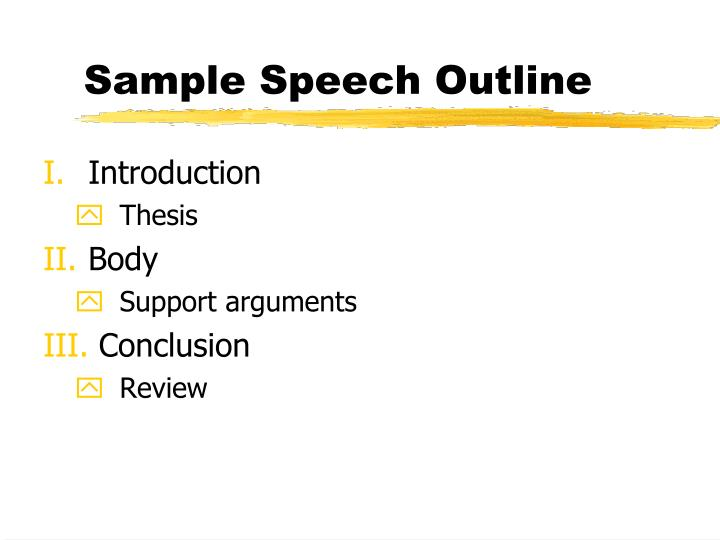 Sample Speech Outline
