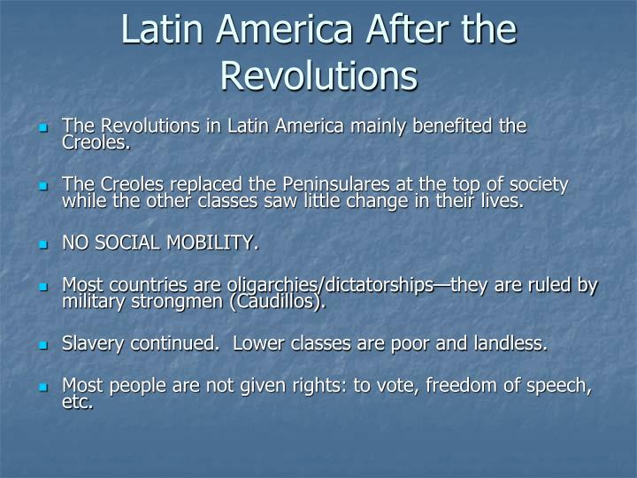 Latin America After the Revolutions