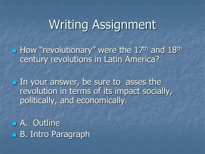 Writing Assignment