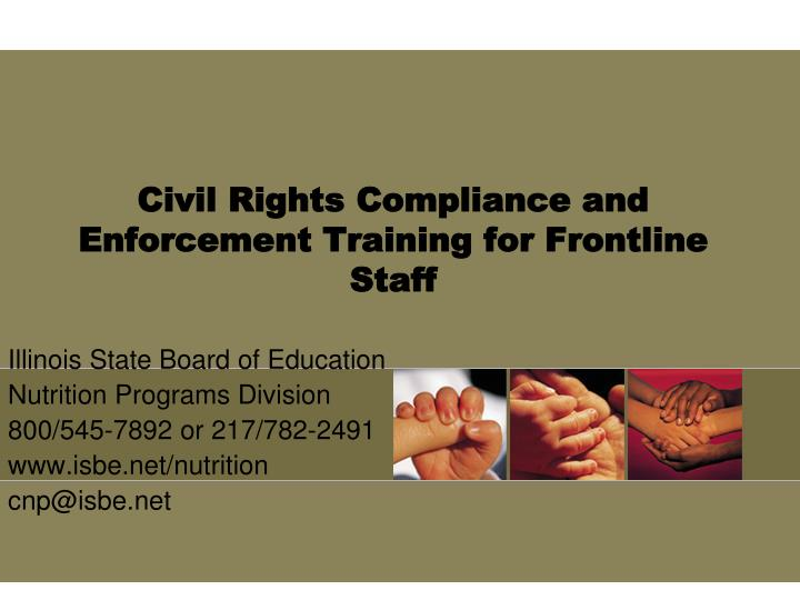 civil rights compliance and enforcement training for frontline staff n.