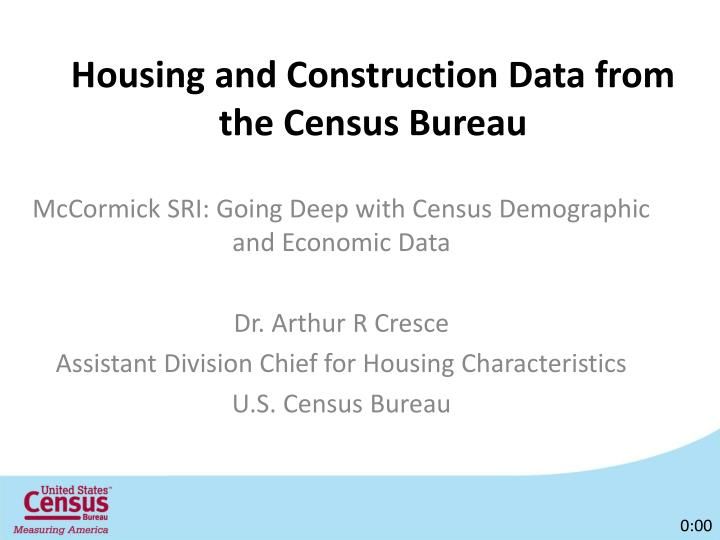 housing and construction data from the census bureau n.