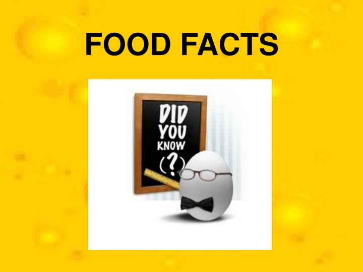 food facts n.