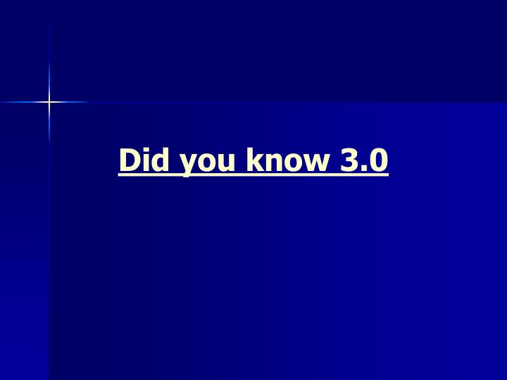 Did you know 3.0