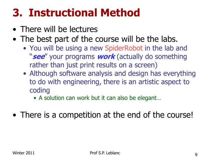 3.  Instructional Method