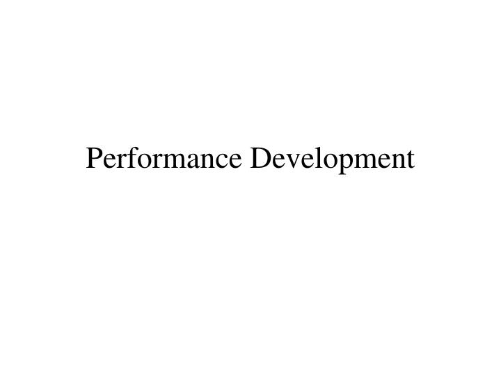 performance development n.
