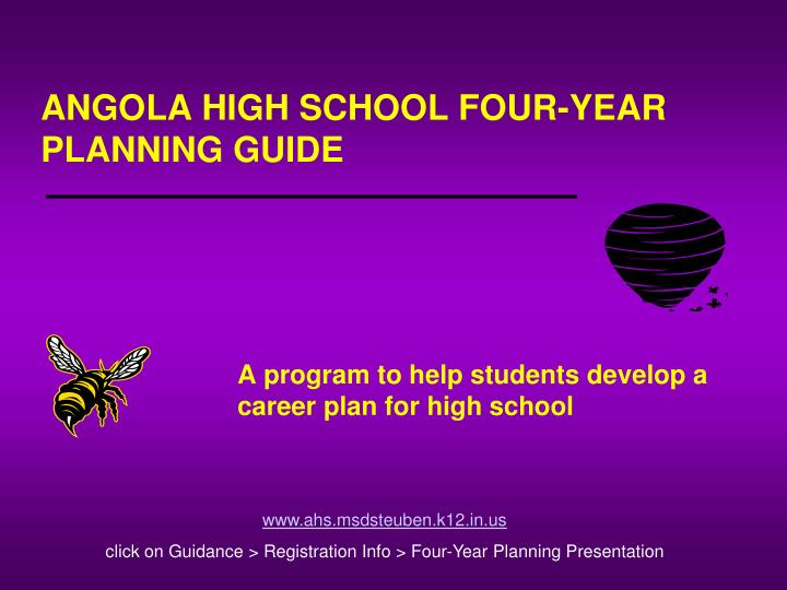 angola high school four year planning guide n.
