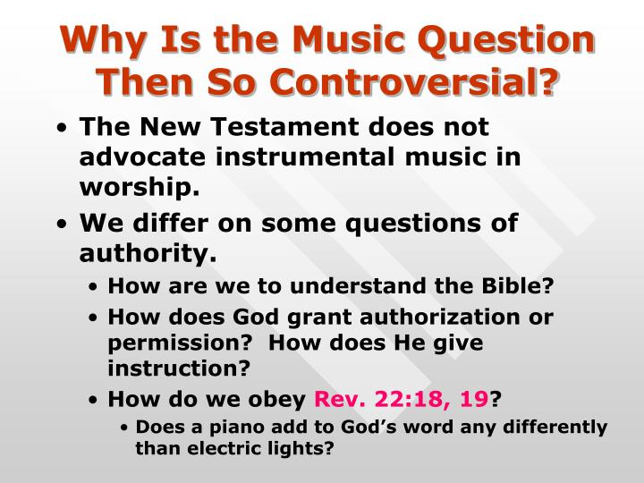 Why Is the Music Question Then So Controversial?