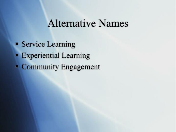 Alternative names