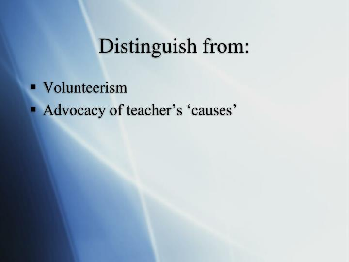 Distinguish from: