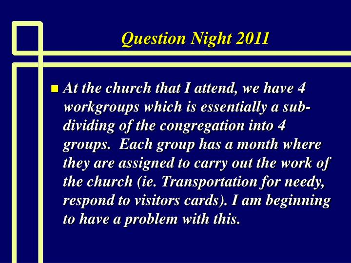question night 2011 n.