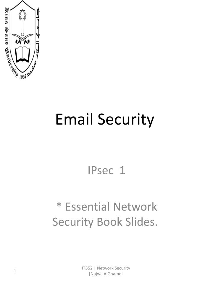 PPT - Email Security PowerPoint Presentation - ID:6178335