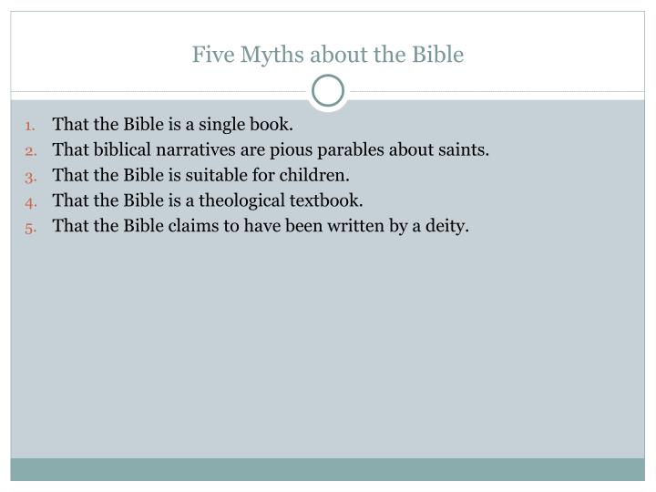 Five Myths about the Bible
