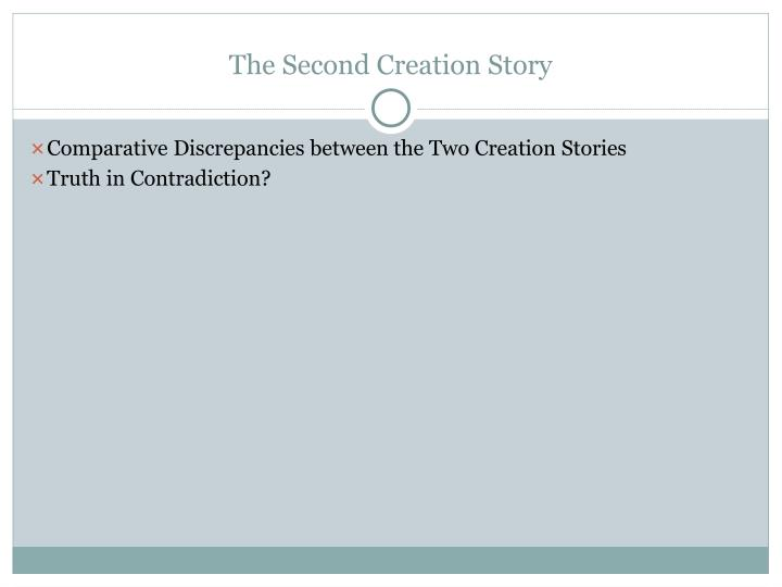 The Second Creation Story