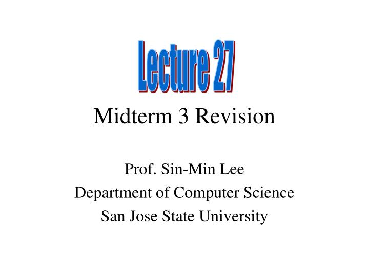 midterm 3 revision n.