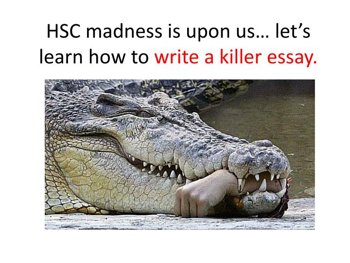 hsc madness is upon us l et s learn how to w rite a killer essay n.