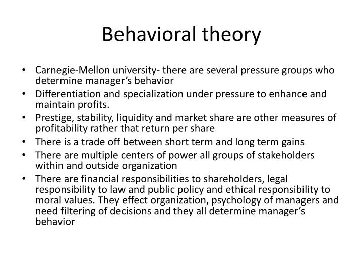Behavioral theory
