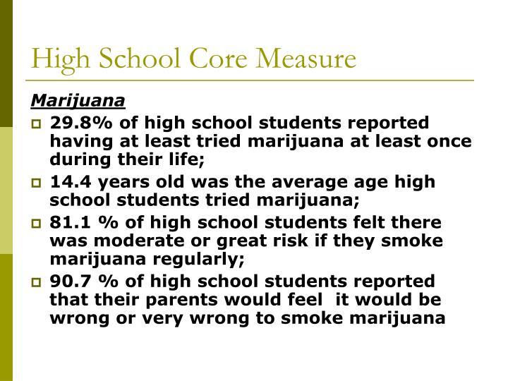 High School Core Measure