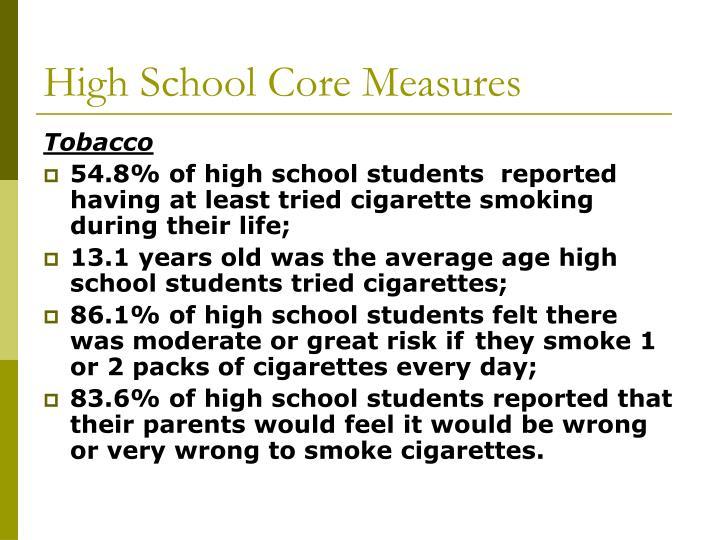 High School Core Measures