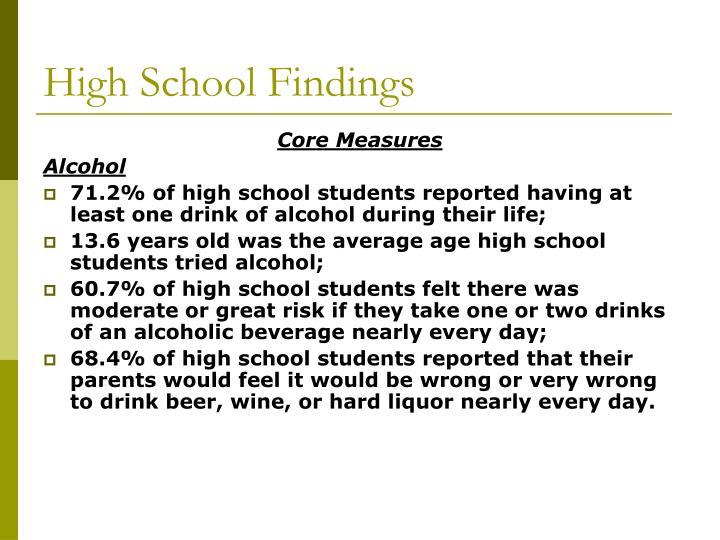 High School Findings