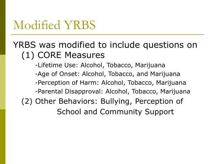 Modified YRBS