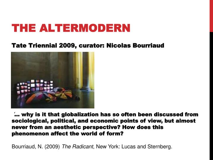 The altermodern