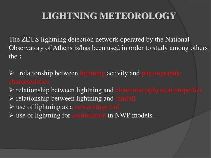 LIGHTNING METEOROLOGY