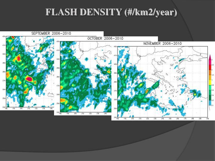 FLASH DENSITY (#/km2/year)